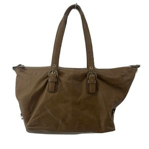 Coach Brown Leather Satchel Shoulder Bag Purse